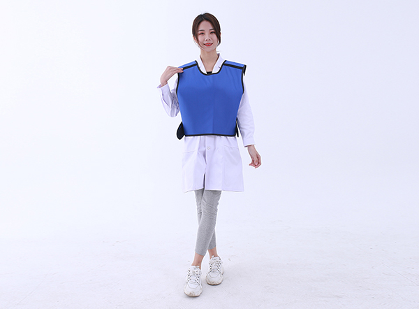 Breast protection apron type
